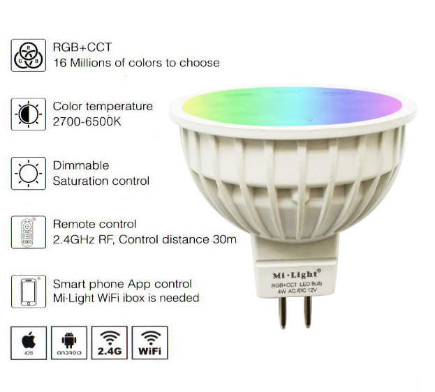 12V_24G_Wireless_Milight_Dimmable_MR16_4