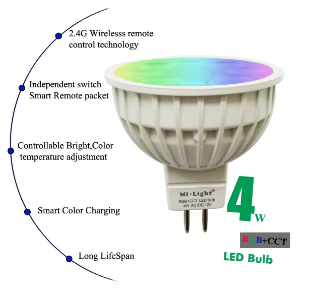 12V_24G_Wireless_Milight_Dimmable_MR16_5