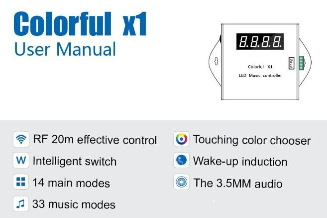 Colorful_X1_LED_Music_Controller_RF_Remote_For_6803_RGB_LED_Strip