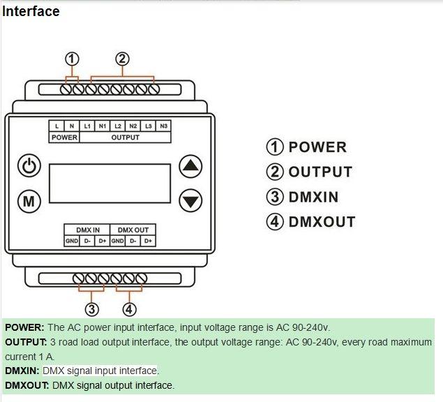 DMX_Triac_Dimmer_Led_Controller_AC90V_240V_3_Channels_DMX302_wholesale