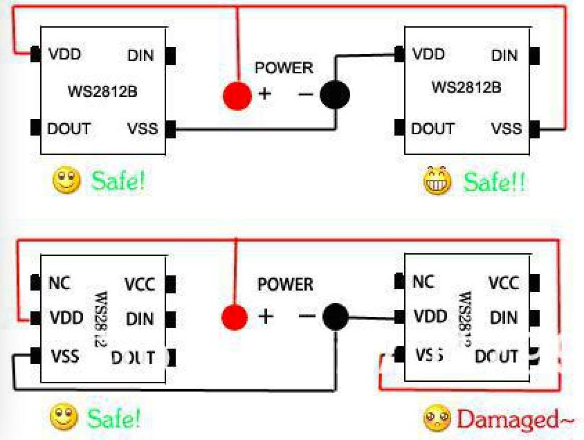 WS2812B_IC_installation