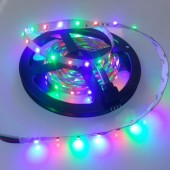 12V 3528 Flexible RGB LED Strip Light 5M 300 LEDs Non-Waterproof