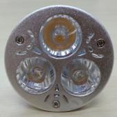 3W MR16 LED Spotlight Lamp 3-LEDs White/Warm White Light Bulb 5Pcs