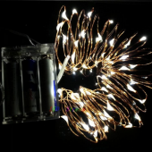 Battery Operated 5M LED Decorative Copper Wire Fairy String Lights