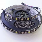Black PCB SMD 5050 RGBW LED Strip Waterproof 16.4Ft 300Leds