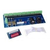 WS-DMX-27CH-RJ45-DIPZ DMX512 XRL 3P 12v-24v 1A*27CH Decoder Controller