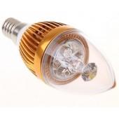 E14 3W LED Candle Lamp LED Bulb Light AC 85V-265V 5Pcs