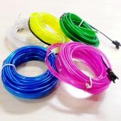 Single Color Flexible EL Wire Neon Light For Car/Party Decoration 2pcs