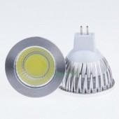 New COB 6W MR16 Dimmable LED Spotlights 120 Angle Led Lamp 5Pcs