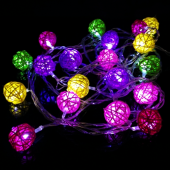 Sepak Takraw Christmas Light String 4M 20 LED Cotton Fabric Ball Lamp